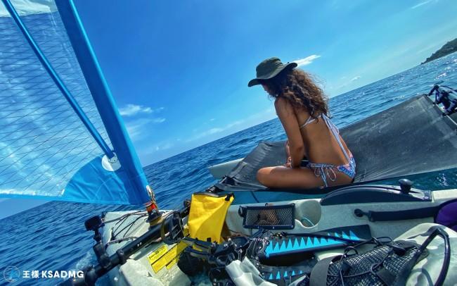 【風帆獨木舟】奇幻漂流之旅|小琉球風帆獨木舟體驗