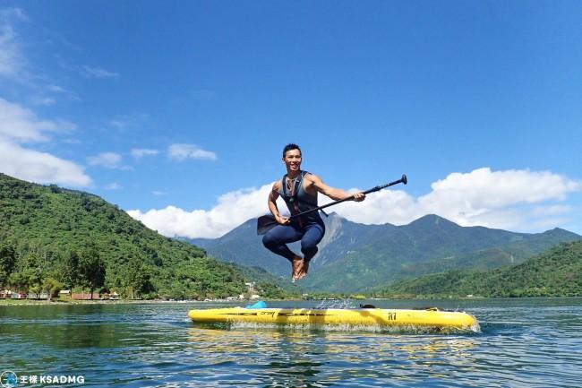 【SUP】鯉魚潭新玩法,划SUP融入湖光山色,妳也是一道美景