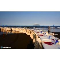 【觀光休閒】老饕與海,廢墟餐廳海灘餐桌獨家饗宴